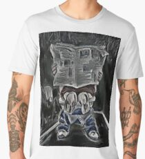 Bathroom Black and White Decor Men's Premium T-Shirt