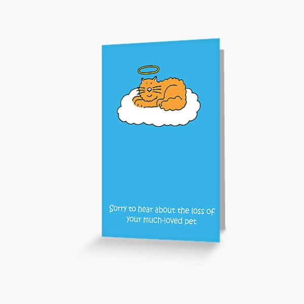 Sympathy on Loss of Much Loved Pet Cat Greeting Card