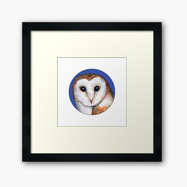 Barn Owl Bird Watercolor Painting Wildlife Artwork Framed Art Print