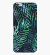 Dark green palms leaves pattern iPhone Case