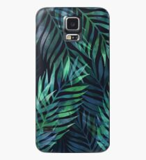 Dark green palms leaves pattern Case/Skin for Samsung Galaxy