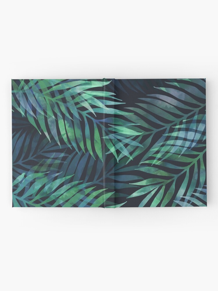 Alternate view of Dark green palms leaves pattern Hardcover Journal