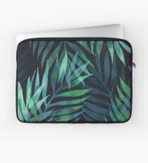 Dunkelgrüne Palmen Blätter Muster Laptoptasche