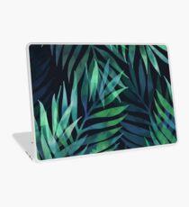 Dunkelgrüne Palmen Blätter Muster Laptop Skin