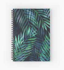 Dark green palms leaves pattern Spiral Notebook
