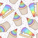 Rainbow Pastry Pattern by Anastasia Shemetova