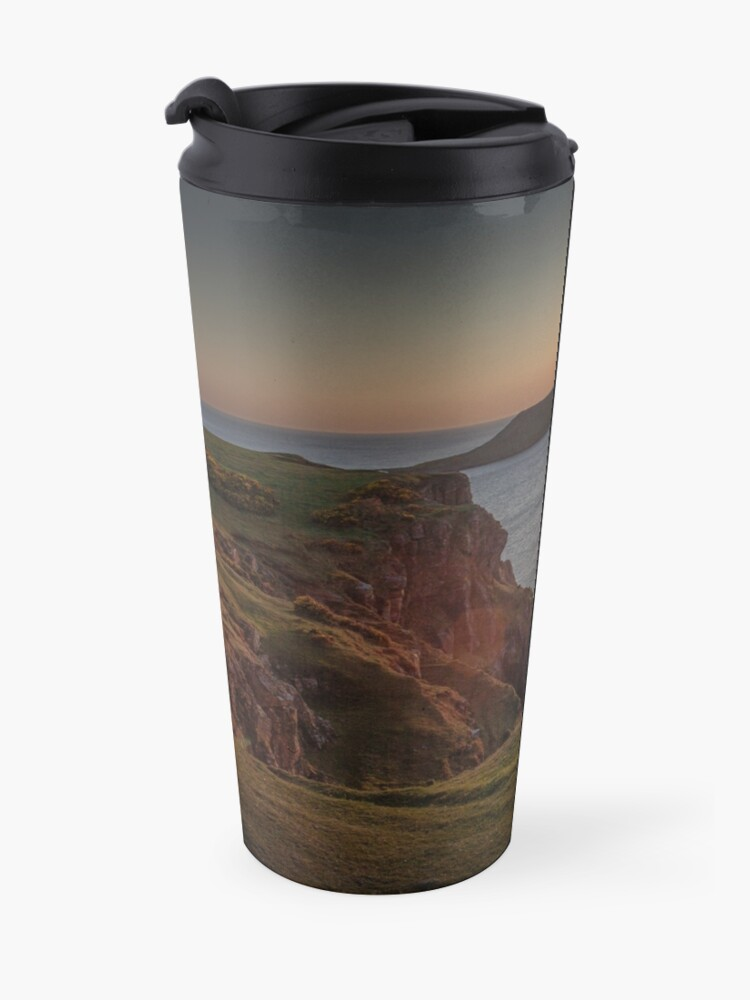 Alternate view of Sunset at Worms head rhossili bay Travel Mug