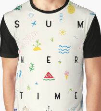 Summertime seamless pattern poster Graphic T-Shirt