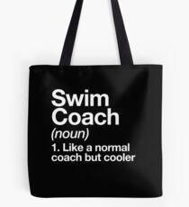 Swim Coach Funny Definition Trainer Gift Design Tote Bag