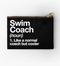 Schwimmen-Trainer-lustiger Definitions-Trainer-Geschenk-Entwurf Täschchen