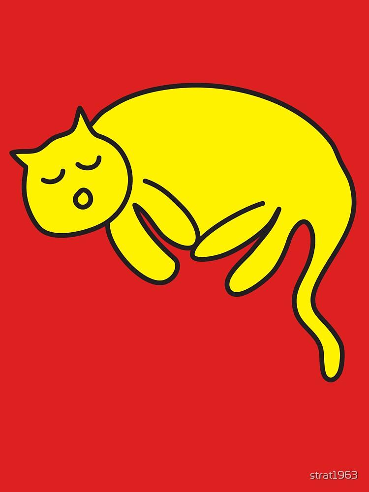 Yellow Cat sleeping by strat1963