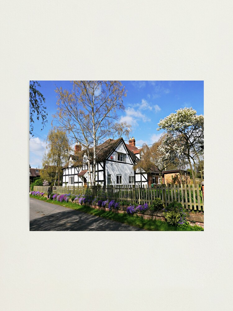 Alternate view of English Cottage in Spring Photographic Print