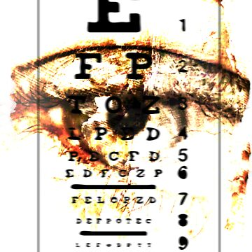 Eye Chart - POSTER by FightRomero