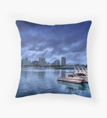 Police Boat Throw Pillow