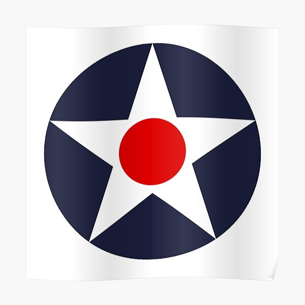 US Army Air Corps. Aircraft roundel. Poster