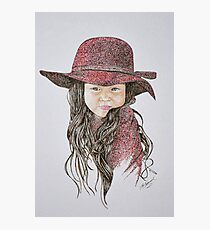 Little Girl in Red Photographic Print