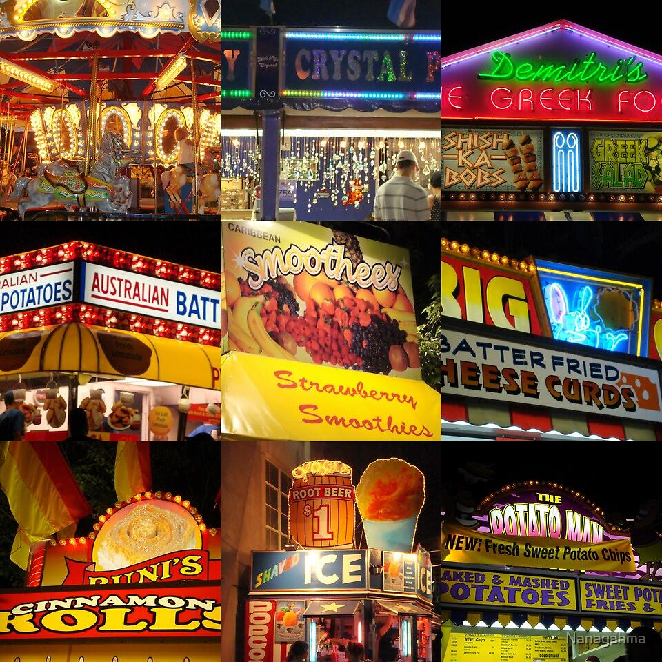A Collage of Neon Signs, BEST VIEWED ENLARGED by Nanagahma