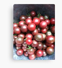 Black Cherry Tomatoes Canvas Print