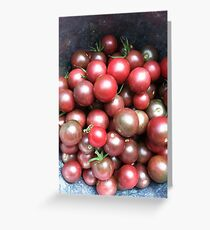 Black Cherry Tomatoes Greeting Card