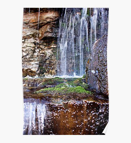 Highway Waterfall Poster