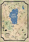 Faux Vintage Map of the Lake Tahoe Region by Jared Manninen