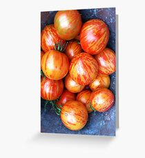 Heirloom Tomatoes Greeting Card