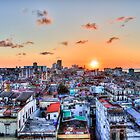 Cuban Rooftops Sunset, Havana, Cuba by Paul Thompson Photography