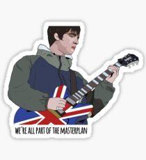 Oasis - Noel Gallagher Art (an der Maine Road) Sticker