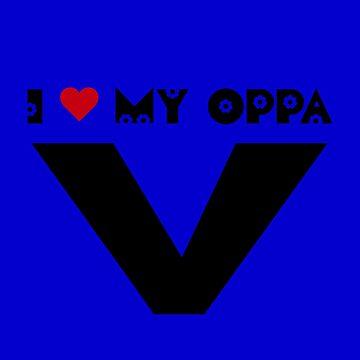 Ich mein Herz OPPA V - BLAU von CynthiaAd