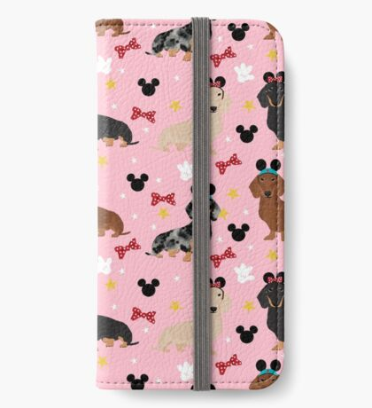 Dachshund theme park lover dog breed wiener dog gifts iPhone Wallet