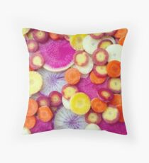 Fresh Sliced Roots Throw Pillow