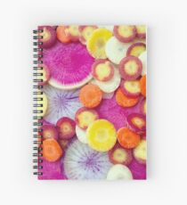 Fresh Sliced Roots Spiral Notebook