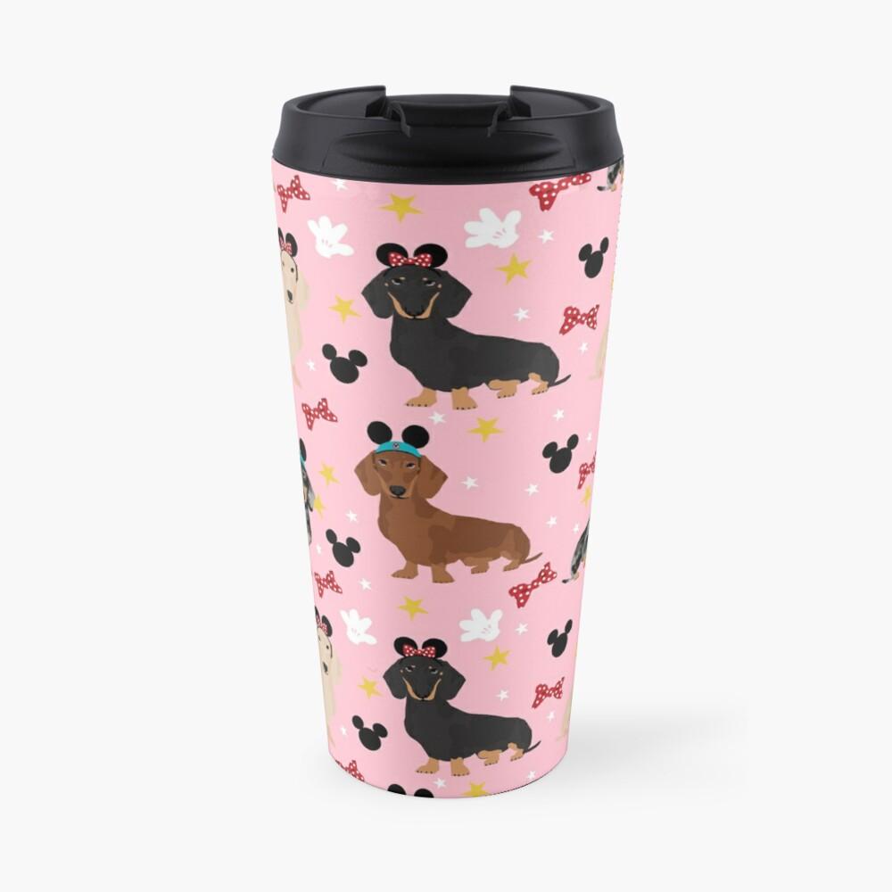 Dachshund theme park lover dog breed wiener dog gifts Travel Mug