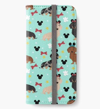 dachshund theme park dog lover vacation wiener dogs  iPhone Wallet