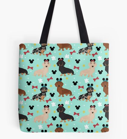 dachshund theme park dog lover vacation wiener dogs  Tote Bag