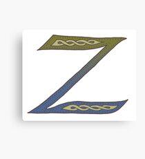 Celtic Knotwork Alphabet - Letter Z Canvas Print