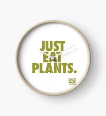 Just Eat Plants. Clock