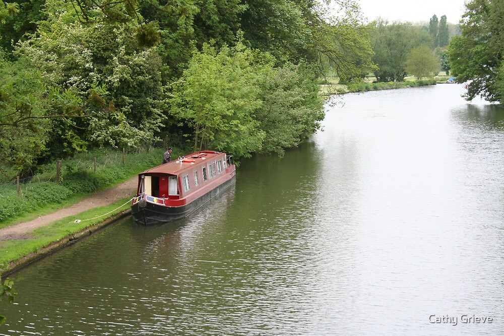 Canal boat, River Thames, near Oxford by Cathy Grieve