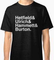 Metallica Original Line-Up Typography Classic T-Shirt