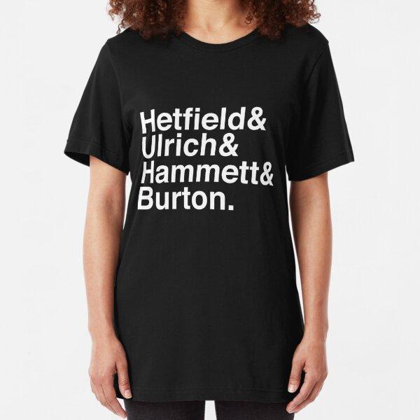 Metallica Original Line-Up Typography Slim Fit T-Shirt