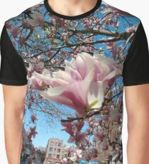 Building, Skyscraper, New York, Manhattan, Street, Pedestrians, Cars, Towers, morning, trees, subway, station, Spring, flowers, Brooklyn Graphic T-Shirt