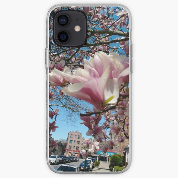 Phone Cases, Building, Skyscraper, New York, Manhattan, Street, Pedestrians, Cars, Towers, morning, trees, subway, station, Spring, flowers, Brooklyn iPhone Soft Case