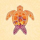 Tropical Sunset Sea Turtle Design by fizzgig