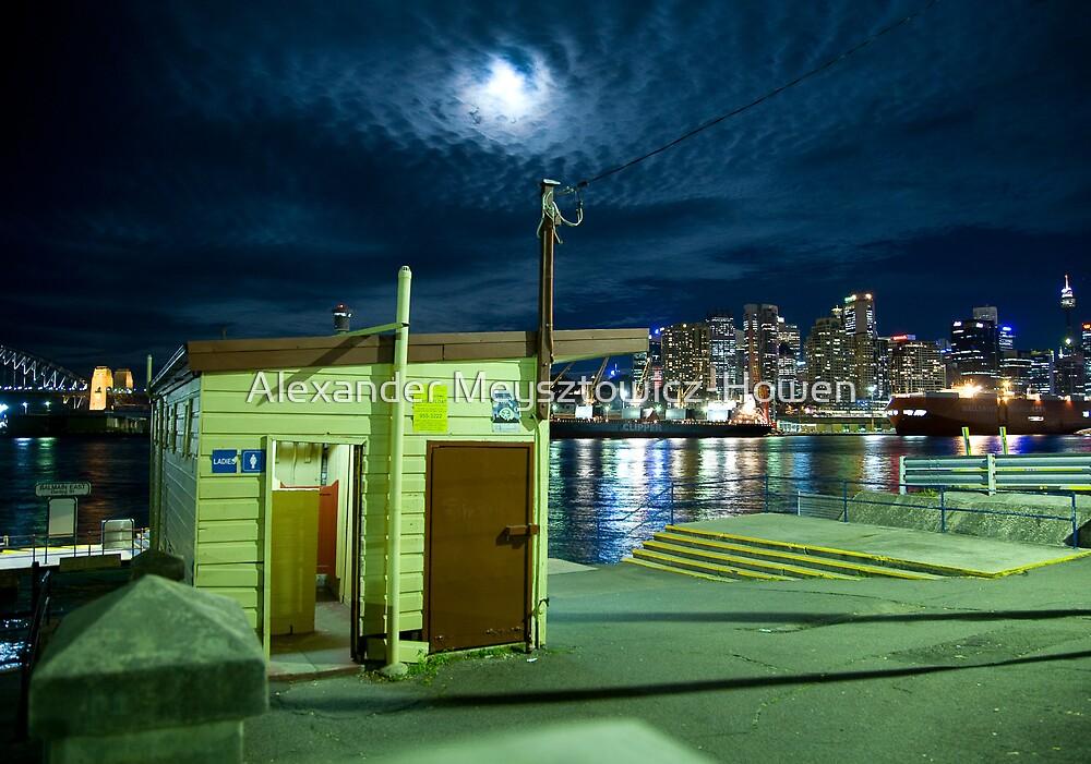 Balmain wharf by night by Alexander Meysztowicz-Howen