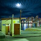 Balmain wharf by night by Alexander Meysztowicz-Howen
