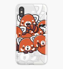 Red Panda Doodle iPhone Case