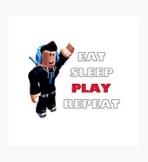 Roblox - Eat Sleep Play Repeat Photographic Print