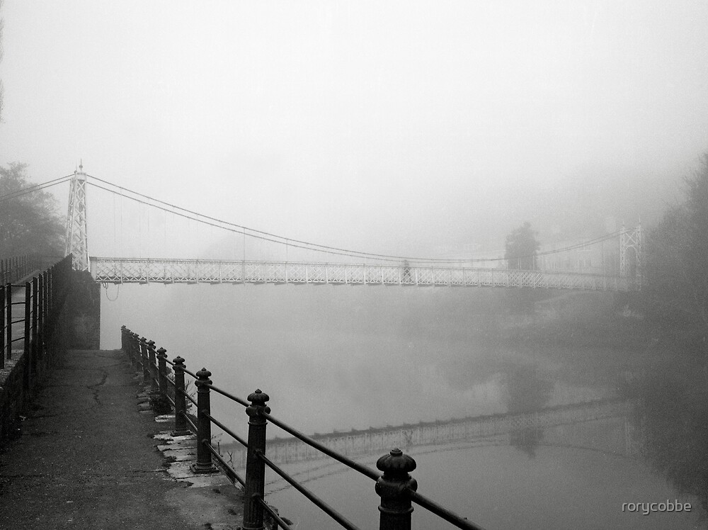 The Shakey Bridge In The Fog by rorycobbe