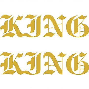 Gold King Men Couples Tee by decentraltees