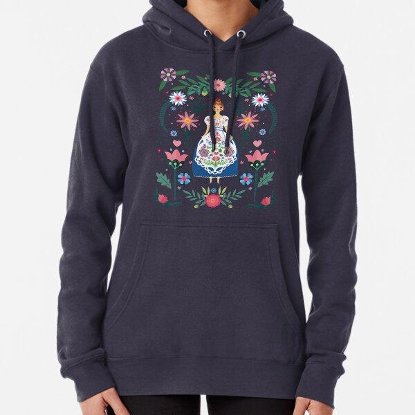 Fairy Tale Folk Art Garden Pullover Hoodie